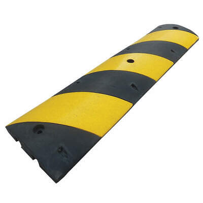 GRAINGER APPROVED Speed Bump,12in.W,2-1/4in.H,48inL,Rubber, 29NH40, Black/Yellow