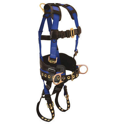 CONDOR Full Body Harness,L/XL,425 lb.,Blue/Blk, 45J270, Blue/Black