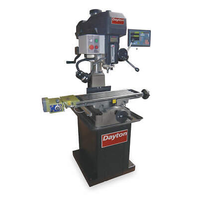 DAYTON Mill/Drill Machine,16 in. Swing,60Hz, 2LKR1