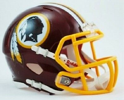 American Football Helmet NFL Washington Redskins Mini Speed Replica Riddell