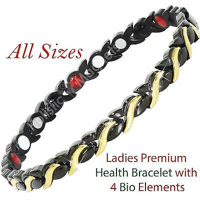 Womens Magnetic Bracelets-Negative Ions for Arthritis Therapy & Wellbeing-BGB4