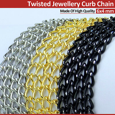 Twisted Jewellery Craft Making Curb Chain High Quality Colors Price per metre