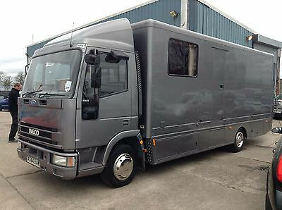 Iveco 75E15 7.5 Race Car / Bike Transporter For Sale MOTORHOME
