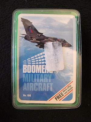 VINTAGE 1970's PACK of BOOMERS TOP TRUMPS GAME CARDS - MILITARY AIRCRAFT