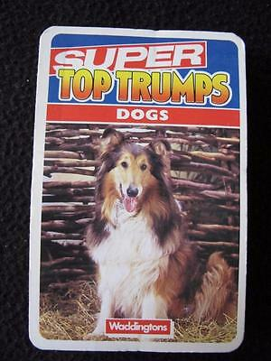 VINTAGE 1990's PACK of SUPER TOP TRUMPS GAME CARDS - DOGS
