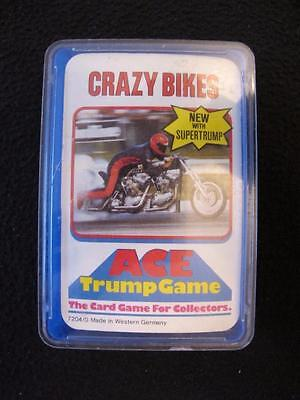 VINTAGE 1970's PACK of ACE TOP TRUMPS GAME CARDS - CRAZY BIKES