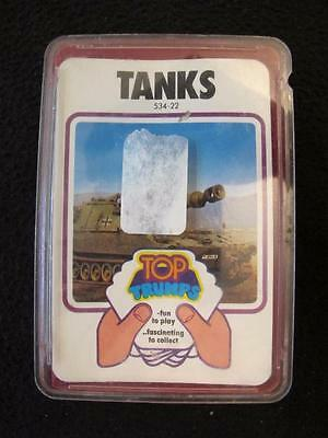 VINTAGE 1970's PACK of DUBREQ TOP TRUMPS GAME CARDS - TANKS