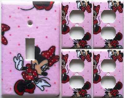 Minnie Mouse Disney Girls light switch covers Set Of 5 Wall Decor Decoration