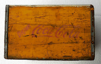 Vintage  Coke-Cola Wood Wooden Crate Carrier Box  /397