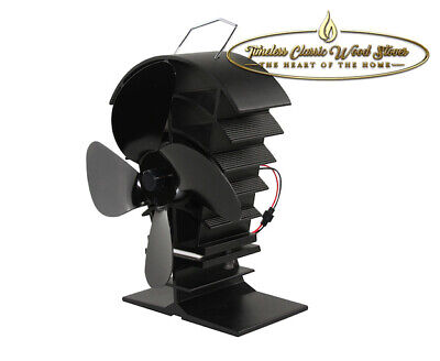 BREEZZA  Heat powered stove  wood fired heater combustion  Eco fan - Black
