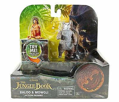NEW Disney The Jungle Book BALOO and MOWGLI Action Figures -2 Pack FREE SHIPPING