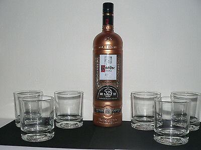 KETEL ONE 325th ANNIVERSARY BOTTLE WITH (6) KETEL ONE GLASSES MADE IN ITALY