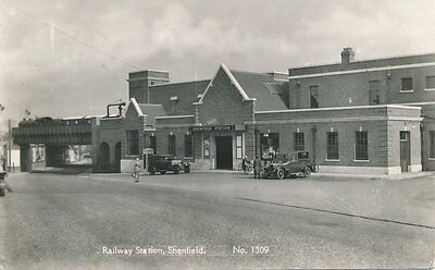ESSEX SHENFIELD RAILWAY STATION 1950s REAL PHOTO POSTCARD