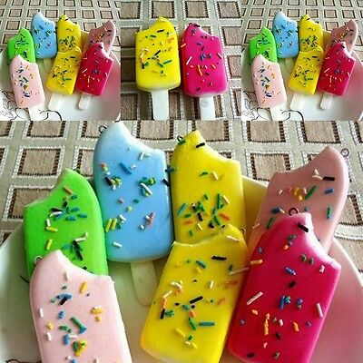 Squishy Jumbo Charms Cell Phone Straps Soft Ice Cream Scented Key Chain Kid Toy