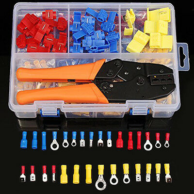900Pcs Assorted Wire Connectors Kit & 1 PC Crimping Asstorted Car Electrical Set