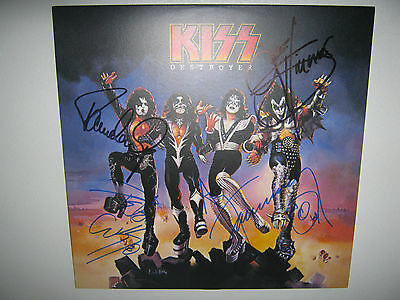 "Kiss ""Destroyer"" Autographed Signed Album Record Cover"
