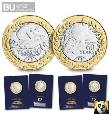 2018 Isle of Man TT Race £2 Two Pounds Mike Hailwood Bunc Unc Coin Set IOM MANX