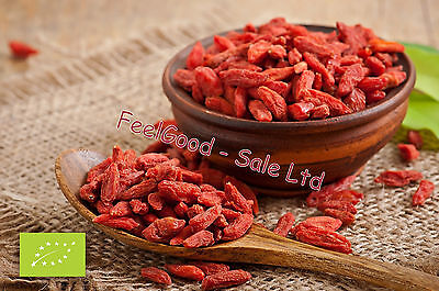 500g Organic Goji Berries Certified Dried Berry No Additives 100%Natural FreeP&P