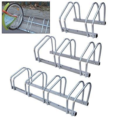 2/3/4 Bike Floor Wall Mount Bicycle Locking Stand Garage Shed Cycle Storage Rack