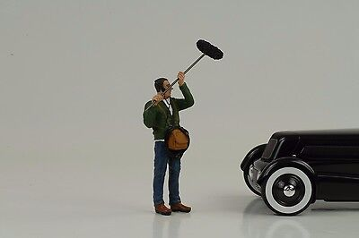 Figur Techniker Ton Camera Crew Street Racing 1:18 American Diorama no car