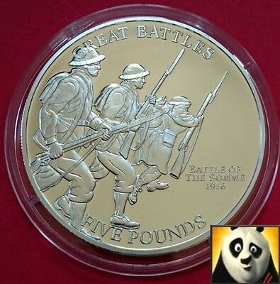 2009 JERSEY £5 Five Pound Battle Of The Somme Silver Proof Coin