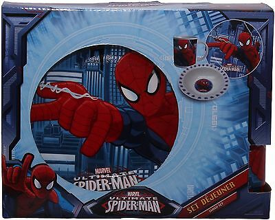 Spiderman Three Piece Ceramic Lunch And Dinner Set By BestTrend
