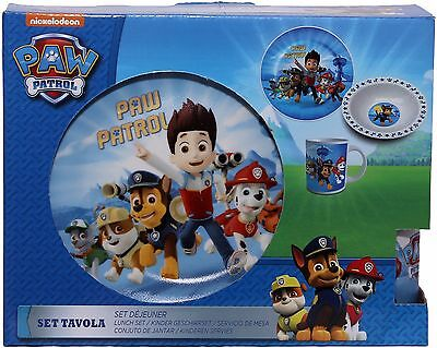 Paw Patrol Three Piece Ceramic Lunch And Dinner Set By BestTrend