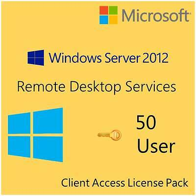 Microsoft Windows Remote Desktop 2012 R2 CALs - 50 Users for RDS - Retail