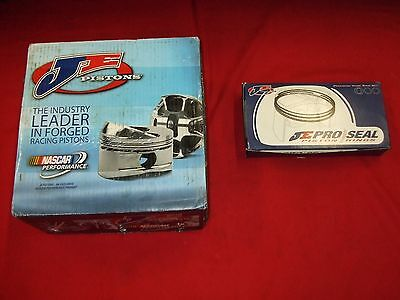 New Je Pistons,pins, Rings,locks For 18 Degree Chevy,4.160 Bore,flat Top,