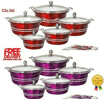 Cooking Pot Set/die Cast Metalic Colours/ High Quality White Ceramic Coated,