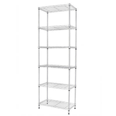 "59""X21.6""X11.8"" 5 Tier Layer Shelf Adjustable Steel Wire Metal Shelving Rack"