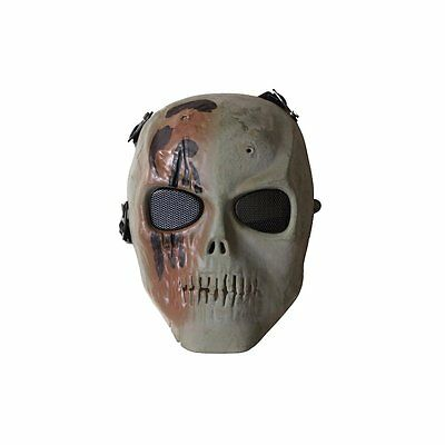 ALEKO Skull Skeleton Airsoft Protective Mask With Wire Mesh Goggles Tactical