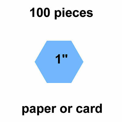 1 inch Hexagons - 100 per pack - Paper or Card - English Paper Piecing