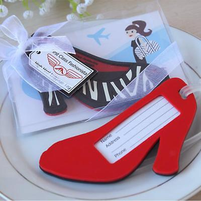 High-heeled Shoes Travel Luggage Baggage Tags Bag Card Holder Suitcase Label