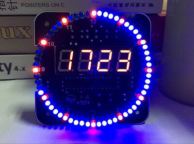 DS1302 Rotating LED Electronic Digital Clock Kit Temperature Display Board DIY