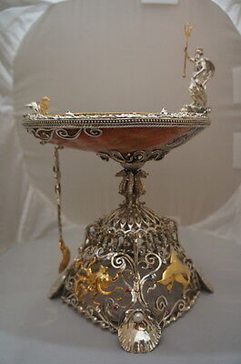 Sterling  Silver 18K Gold plated Caviar Dish