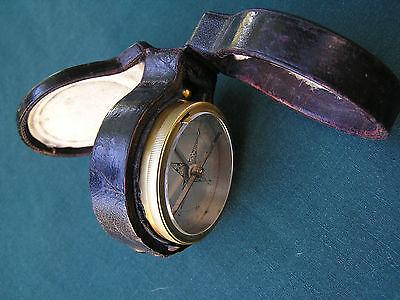 Superb Cased Pocket Barometer & Compass 1900
