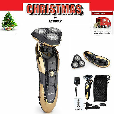 2017 New Men's 3D Rotary Rechargeable Cordless Electric Beard Shaver Razor 3W