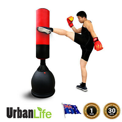 Martial Arts Training Boxing Punching Bag 165CM Heavy Duty PU Leather DenseCore