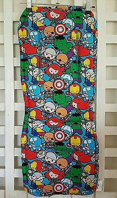 Marvel Avengers Kawaii Reversible Pram Liner & Strap Covers Universal fit NEW