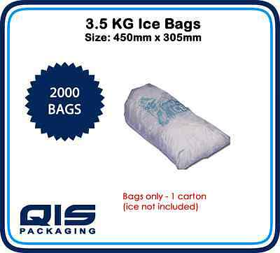 "3.5KG Ice Bags L450mm x W305mm Printed ""Party Ice"" Party Food Small Packaging"