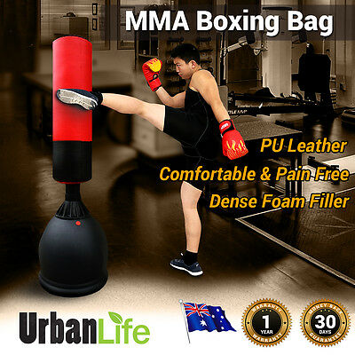 New MMA Kick Boxing Bag 165cms Heavy Duty Free Standing Solid Core Stitched