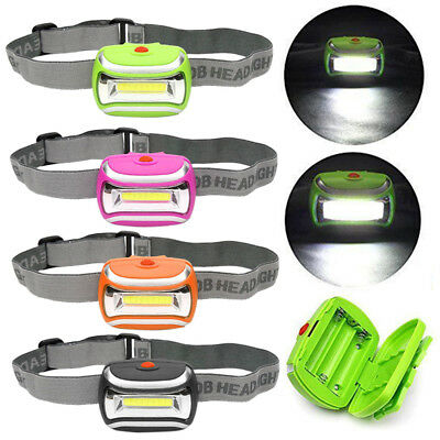 600LM COB LED Headlamp 3xAAA Headlight Adjustable Angle Outdoor Head Torch Lamp