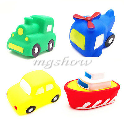 Baby Vehicles Bathtime Floating Squeaky Sqeeze Bath Toy Christma Gift Water Play