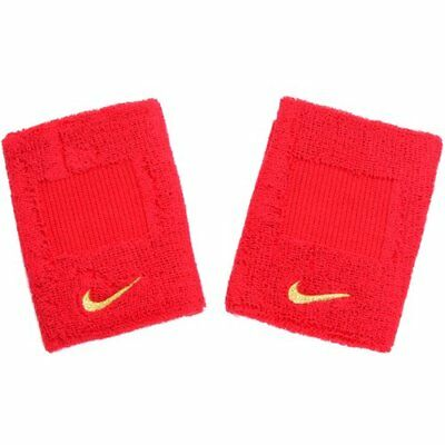 NIKE BB Wristbands Higher Absorbency , Red x Yellow Swoosh