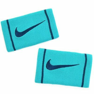 NIKE Dri-Fit Doublewide Wristbands Size: 13.3cm x 8.5cm , Green x Black