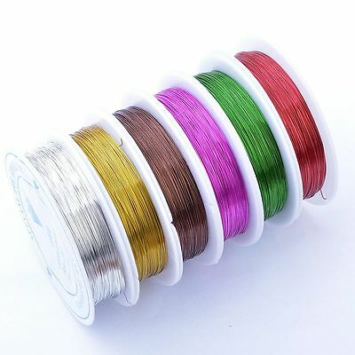 0.3mm 20meter Copper Wire Jewellery Tiara Beading Craft Making 10 Color To Chioc