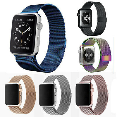 Magnetic Milanese Loop Stainless Watch Band Strap For iWatch Apple Watch 38 42mm