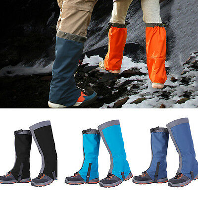New1Pair Breathable Outdoor Hiking Climbing Snow Legging Gaiters Waterproof