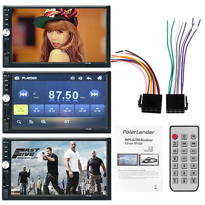 """7"""" 2 Din Car MP5 player audio Radio stereo FM USB/SD Bluetooth/TV Touch screen"""
